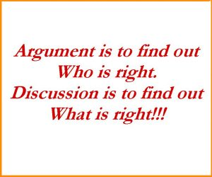 ARGUMENT AND DISCUSSION ( DIFFERENCES)